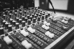 Black and White Audio Equalizer Royalty Free Stock Photography