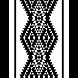 Black and white aztec striped ornaments geometric ethnic seamless border, vector Royalty Free Stock Photos