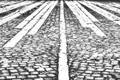 Black and white background, abstract, brick road royalty free stock image