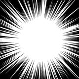 Black and white background action comic book strips. Radial lines for comic books.   Royalty Free Stock Images