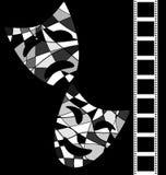 Black white background cinema Stock Photo