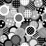 Black and white background with circles Royalty Free Stock Images