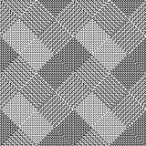 Black and white background, cloth vector pattern. Goose foot Royalty Free Stock Images