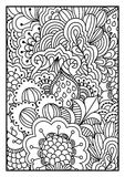 Black and white background for coloring book. Royalty Free Stock Images