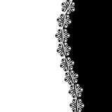 Black and white background with flowers Stock Photos