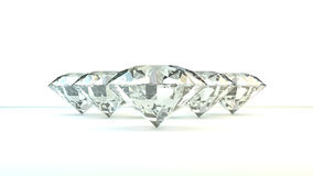 Black and white background of glittery diamonds. Render beautiful diamonds with a shiny surface Stock Image