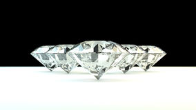 Black and white background of glittery diamonds. Render beautiful diamonds with a shiny surface Stock Photos