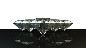 Black and white background of glittery diamonds. Render beautiful diamonds with a shiny surface Royalty Free Stock Photography