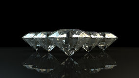 Black and white background of glittery diamonds. Render beautiful diamonds with a shiny surface Stock Images