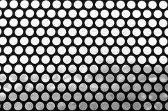 Black and white background of a grid of spotted. Pattern of round holes vintage style. Photo for web site slider. royalty free stock photos