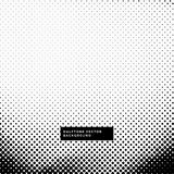 Black and white background with halftone dots Royalty Free Stock Photos