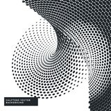 Black and white background with halftone dots Royalty Free Stock Image