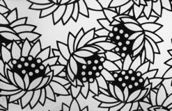 Black and white flowers background vector illustration