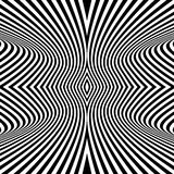Black and White Background. Pattern With Optical Illusion. Royalty Free Stock Images