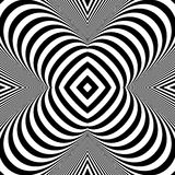 Black and White Background. Pattern With Optical Illusion. Royalty Free Stock Image