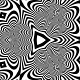 Black and White Background. Pattern With Optical Illusion. Royalty Free Stock Photos