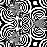 Black and White Background. Pattern With Optical Illusion. Vector Illustration Stock Images