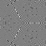 Black and White Background. Pattern With Optical Illusion. Stock Images