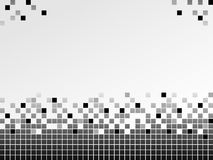 Black and white background with pixels Royalty Free Stock Images
