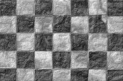 A square background like a black and white checkerboard royalty free stock photography