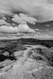 Black and white of Badlands National Park, South Dakota Royalty Free Stock Photography