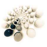 Black and white ball circle Royalty Free Stock Images