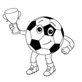 Black and white - ball with the cup Royalty Free Stock Photo