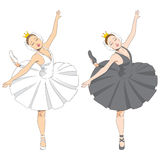 Black & White Ballerina Royalty Free Stock Photo