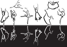 Black and white ballet sketch Royalty Free Stock Image