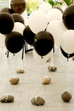 Black & white balloons Royalty Free Stock Photos
