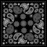 Black and White Bandana Print Royalty Free Stock Image