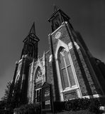 Black and White Baptist Church Royalty Free Stock Photos