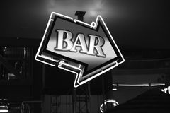 Black & White Bar Sign Royalty Free Stock Images