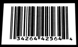 Black and White Barcode Royalty Free Stock Photography