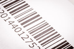 Black and white barcode Stock Photography