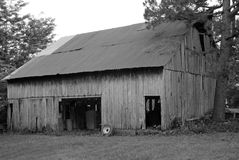 Black & white barn Stock Photography