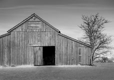 Black and white barn royalty free stock images