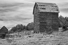 Black and White barn. Stock Images