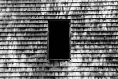 Black and White Barn Window Stock Photography