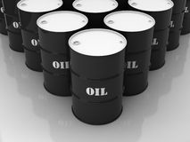 Black and white barrels Royalty Free Stock Photo