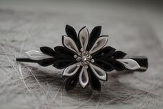 Black-White barrette stock photography