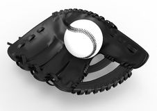 Black and white baseball illustration Stock Photos