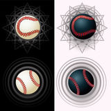 Black and white baseballs Stock Photography