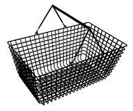 Black and white basket Royalty Free Stock Photos