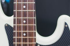 Black and white bass guitar