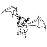 black and white bat Stock Images