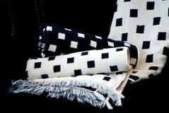 Black & White Bath Towels Stock Image