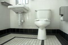 Black and white bathroom Stock Image