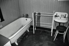 Black and White Bathroom Royalty Free Stock Images
