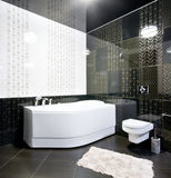 Black and white bathroom interior Stock Photos